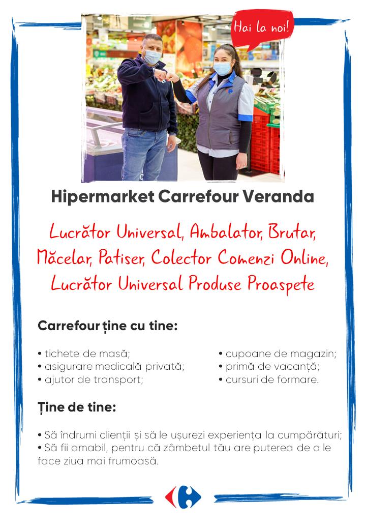 Căutăm colegi noi Hipermarket Carrefour Veranda
