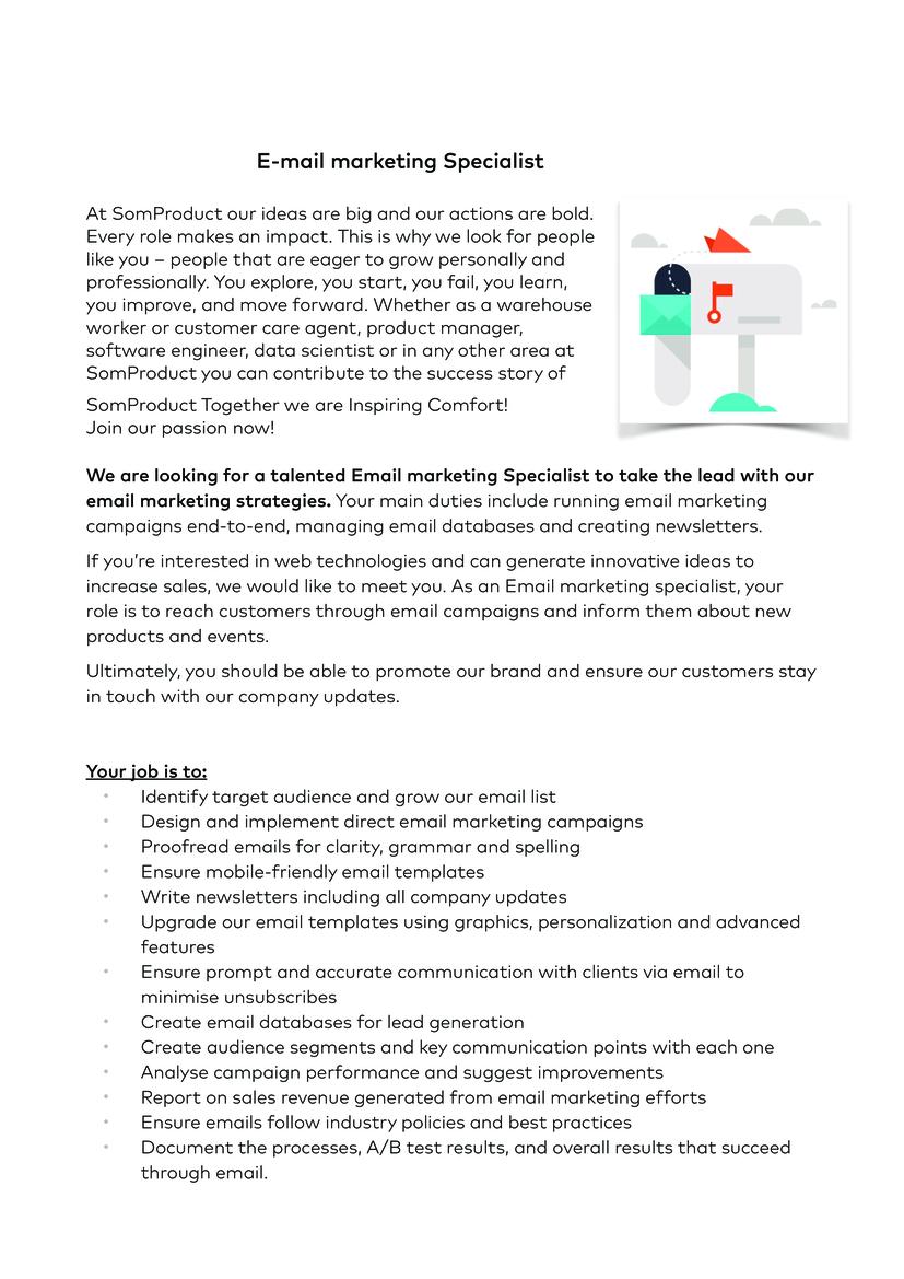 E-mail marketing Specialist