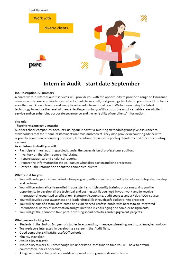Intern in Audit - start date September