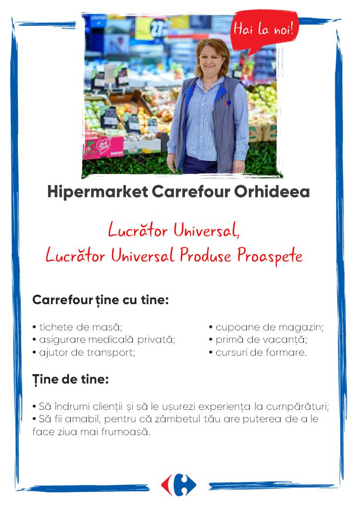 Căutăm colegi noi Hipermarket Carrefour Orhideea