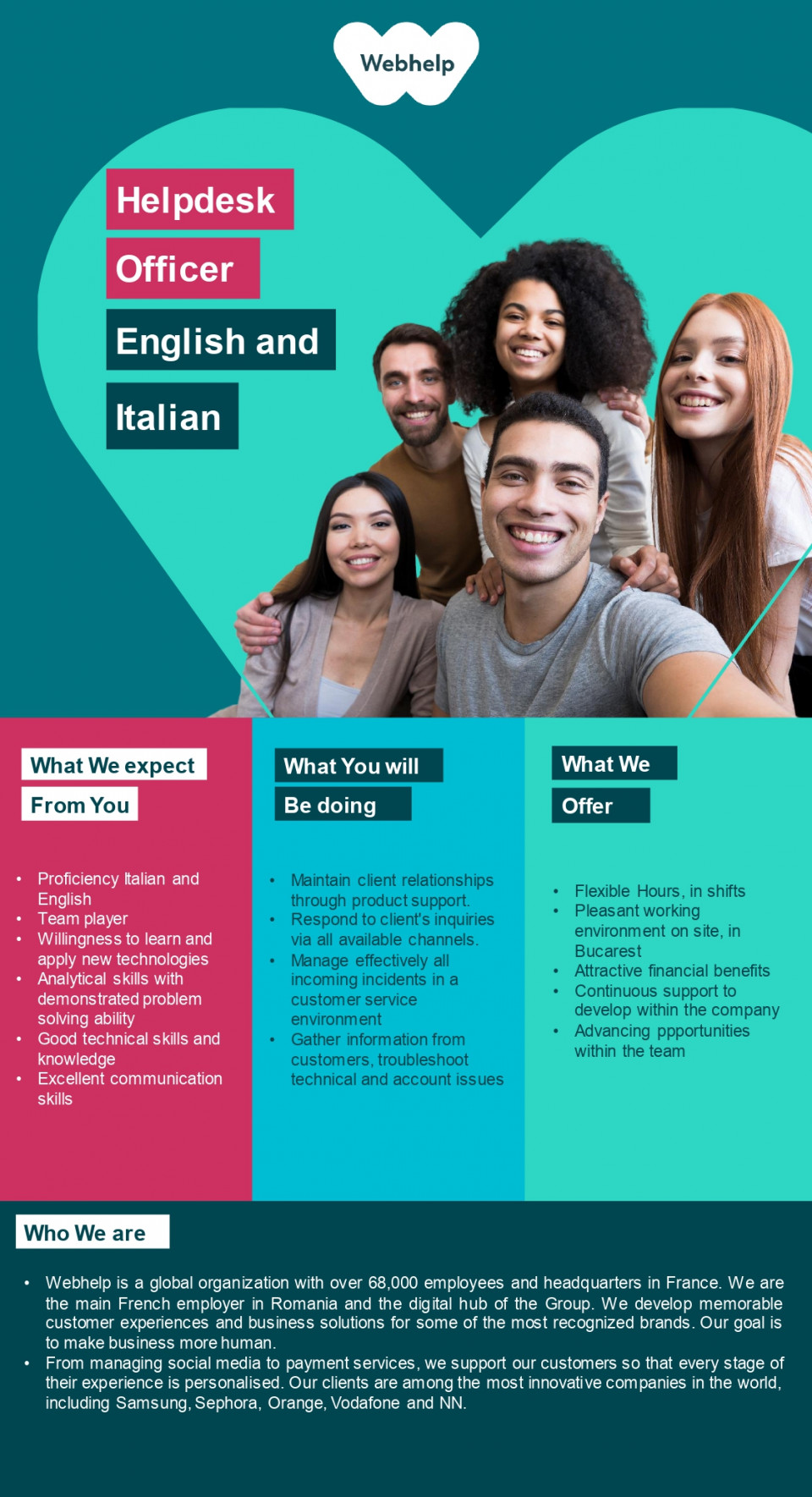 Helpdesk Specialist with Italian and English