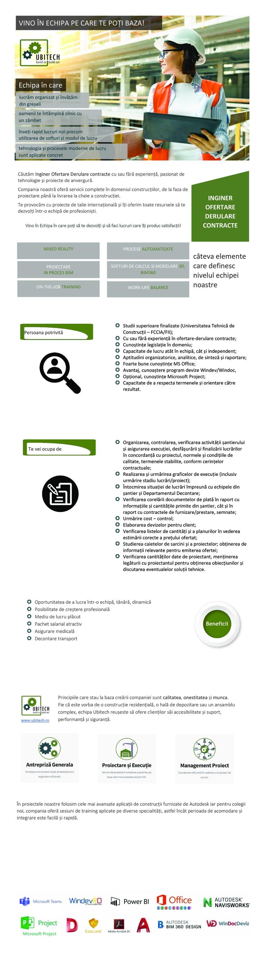 Inginer Ofertare - Derulare contracte Constructii