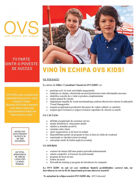 Consilier Vânzări  OVS Kids