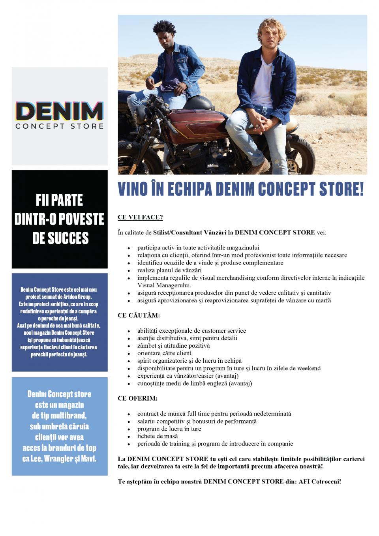 Consilier Vânzări Denim Concept Store