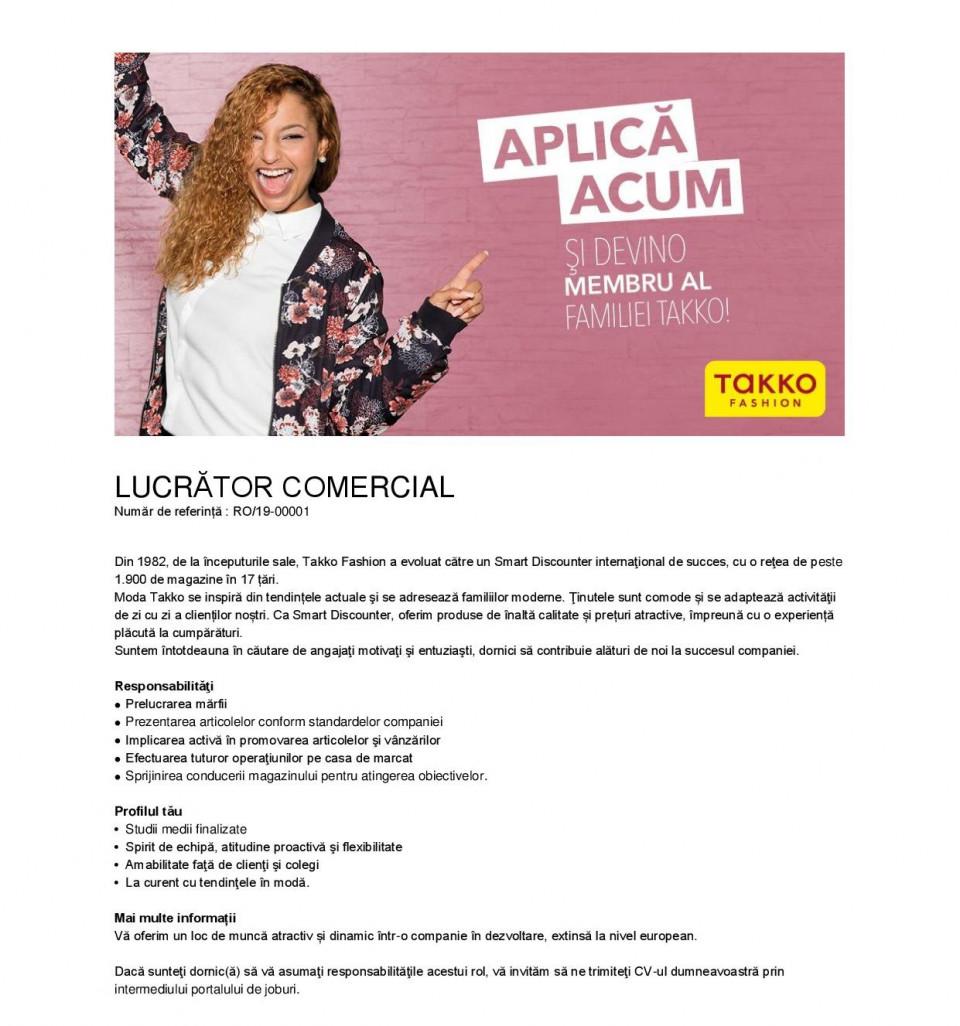 Lucrător comercial – Alba,Tulcea,Ploiesti,Botosani,Bucuresti