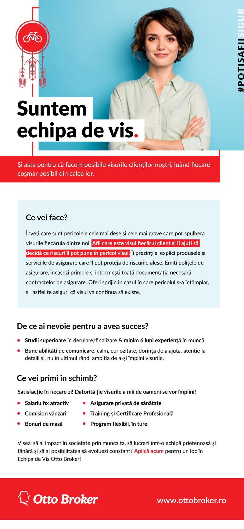 Junior Broker de Asigurare – Bucuresti – Auchan Titan