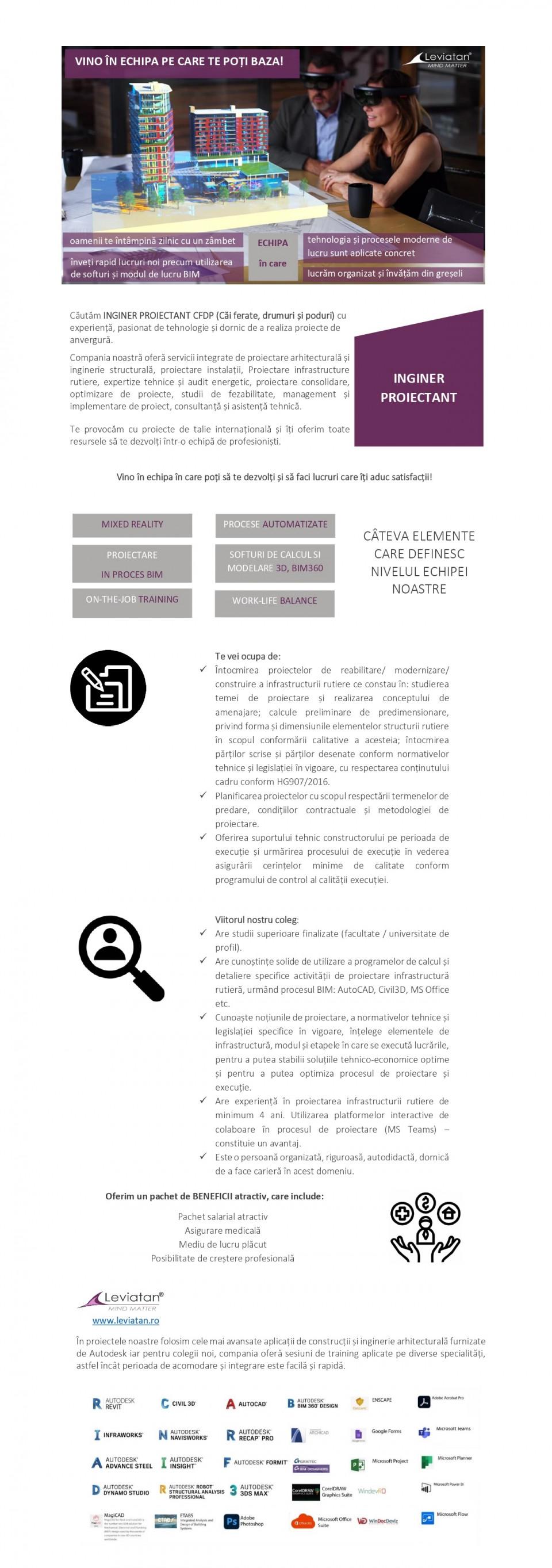 INGINER PROIECTANT CFDP (Căi ferate, drumuri și poduri)