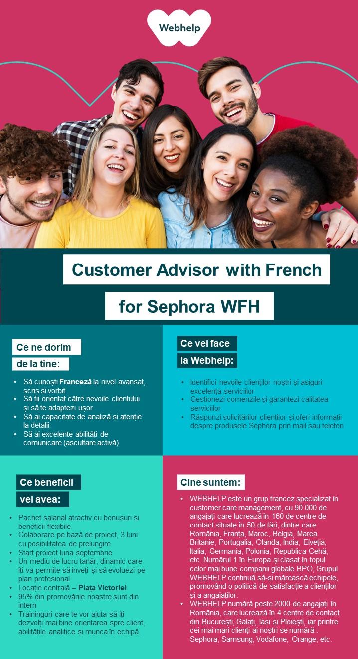 Customer Advisor with French for Sephora WFH