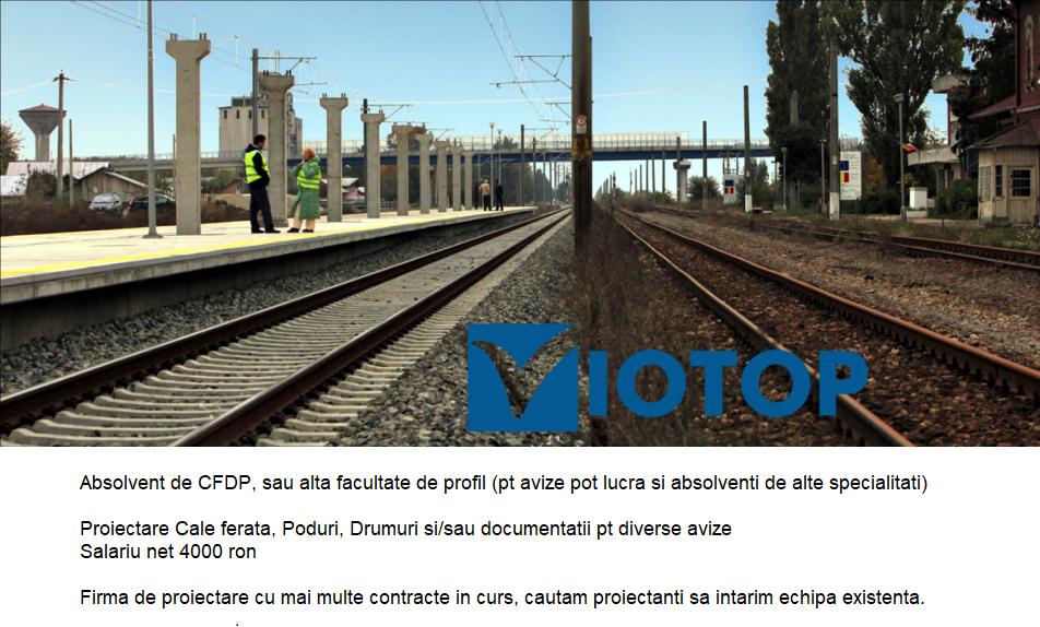 Proiectant infrastructura Cale ferata, Drumuri, Poduri,